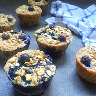 Blueberry Pecan Baked Oatmeal Cups.