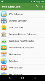 Financial Calculators Screenshot 1