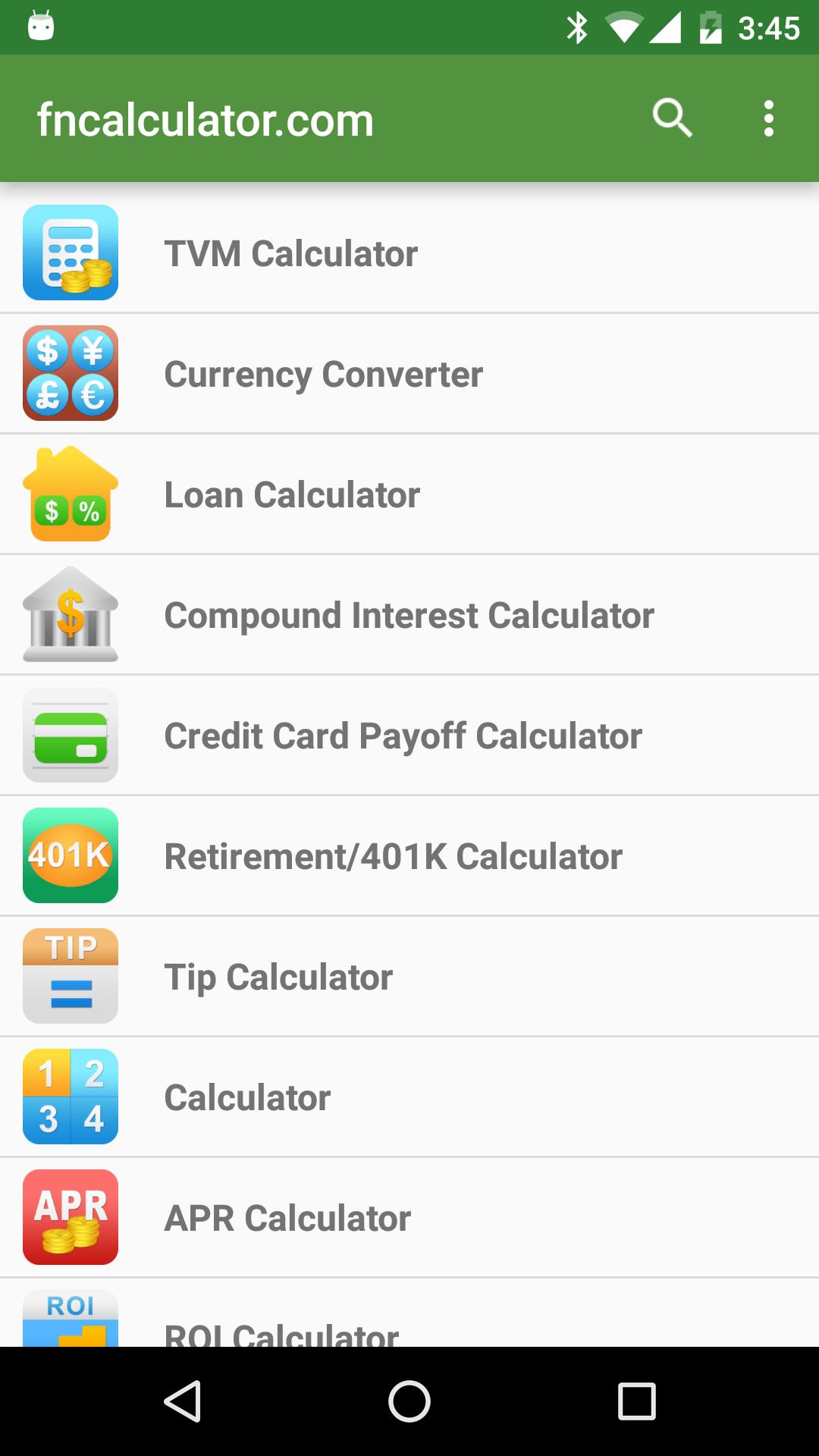Financial Calculators screenshot #1