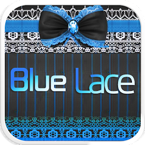 Blue Lace Emoji Keyboard Theme for PC and MAC