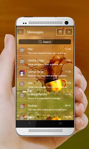玩個人化App 咖啡溢出 GO SMS免費 APP試玩