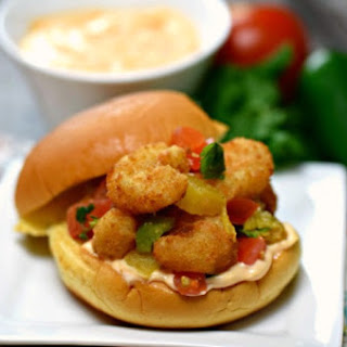 Popcorn Shrimp Sliders with Grilled Pineapple Salsa