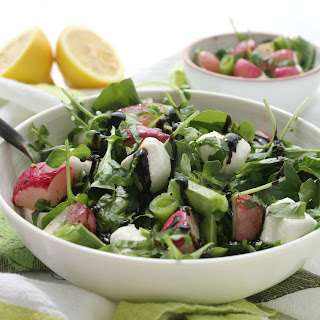 Spring Roasted Radish, Mozzarella and Basil Salad