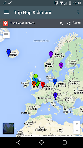 Trip Hop - Interactive Map