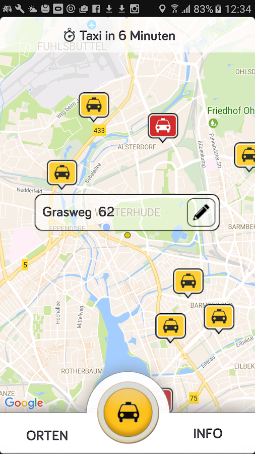 Taxi.de- screenshot