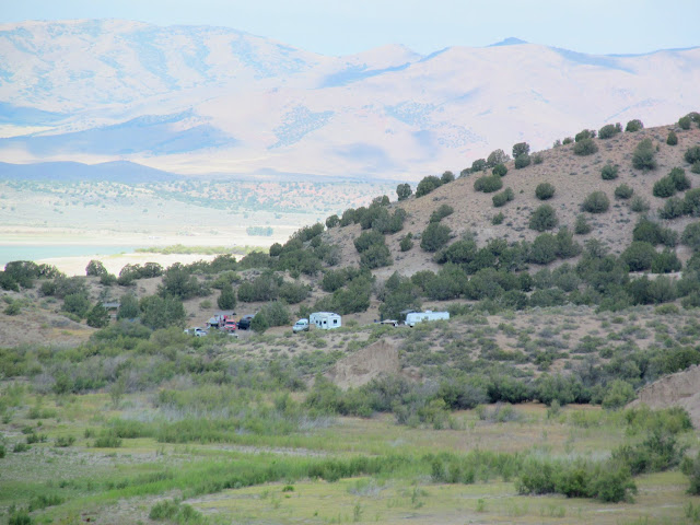 View toward camp from Painted Rocks