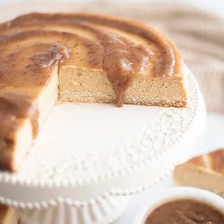 Sweet Potato Cheesecake with Salted Caramel Sauce