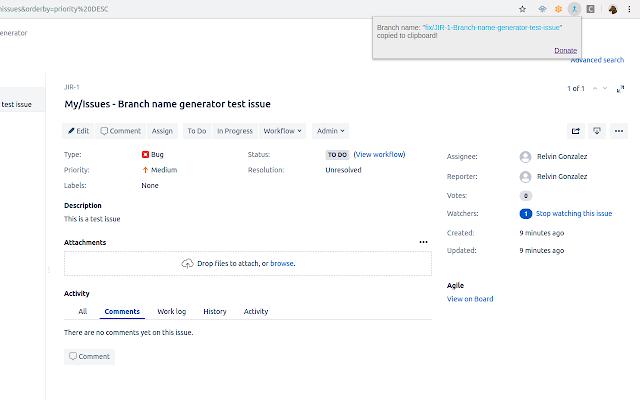 JIRA Issue Branch Name Generator