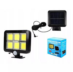 Proiector solar 120 LED COB senzor de lumina si miscare