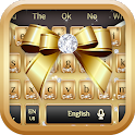 Silver Diamond Gold Ribbon Keyboard Theme icon