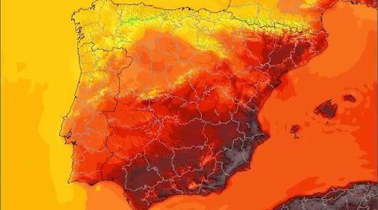 Todo el interior provincial vive hoy por encima de los 40 grados