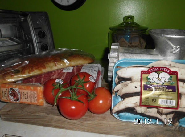 Ingredients you will need, plus oil for frying mushrooms, and an indoor or outdoor...
