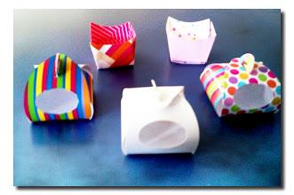 Photo: Embalagens unitárias para doces ou salgados.