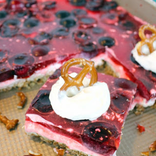 Cherry Jello Pretzel Salad