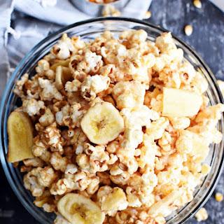 Healthy Peanut Butter Banana Popcorn.