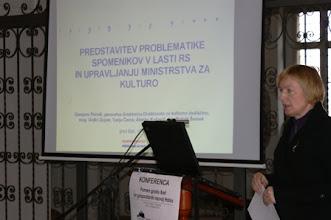 Photo: 03 Predstavitev Damjane Pečnik, generalne direktorice Direktorata za kulturno dediščino na Ministrstvu za kulturo