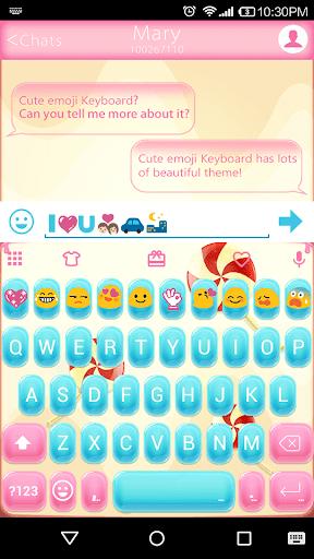 玩個人化App|Candy Love Emoji Keyboard Skin免費|APP試玩