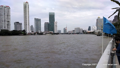 Photo: Our first look at the Chao Phraya River, Bangkok.