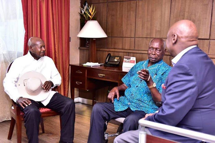 Image result for Moi and Museveni