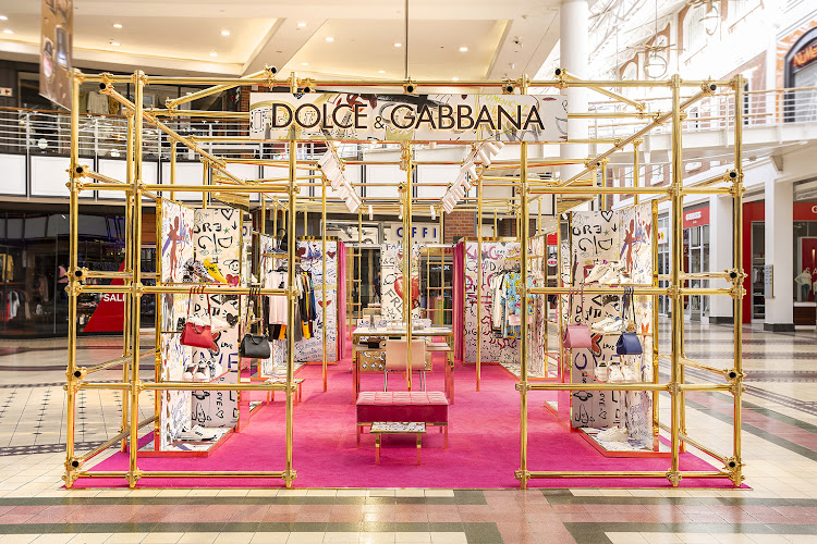 The Dolce & Gabbana Pop Up at the V&A Waterfront, Cape Town.
