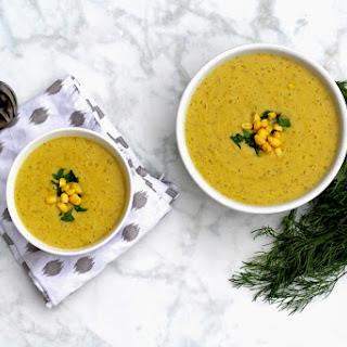 Velvety Vegan Corn Soup.
