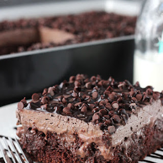 Chocolate Poke Cake.