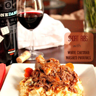 Short Ribs with White Cheddar Mashed Potatoes