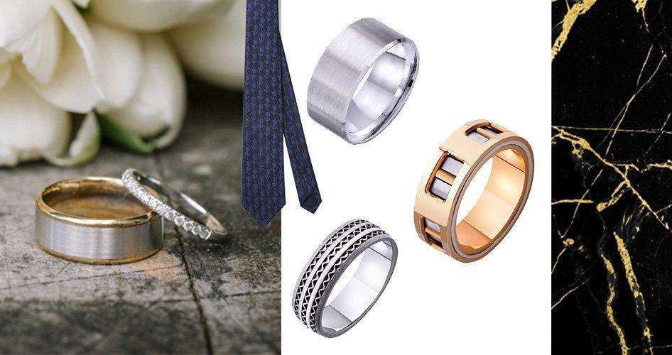 Обручальное мужское кольцо: оригинальные модели