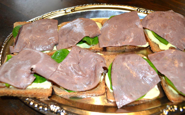 Roast Beef Tea Sandwiches Recipe
