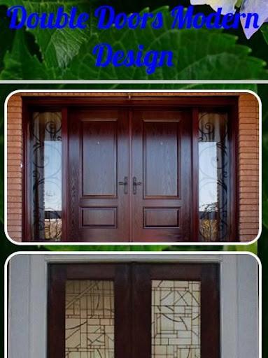 두 번 문을 현대적인 디자인