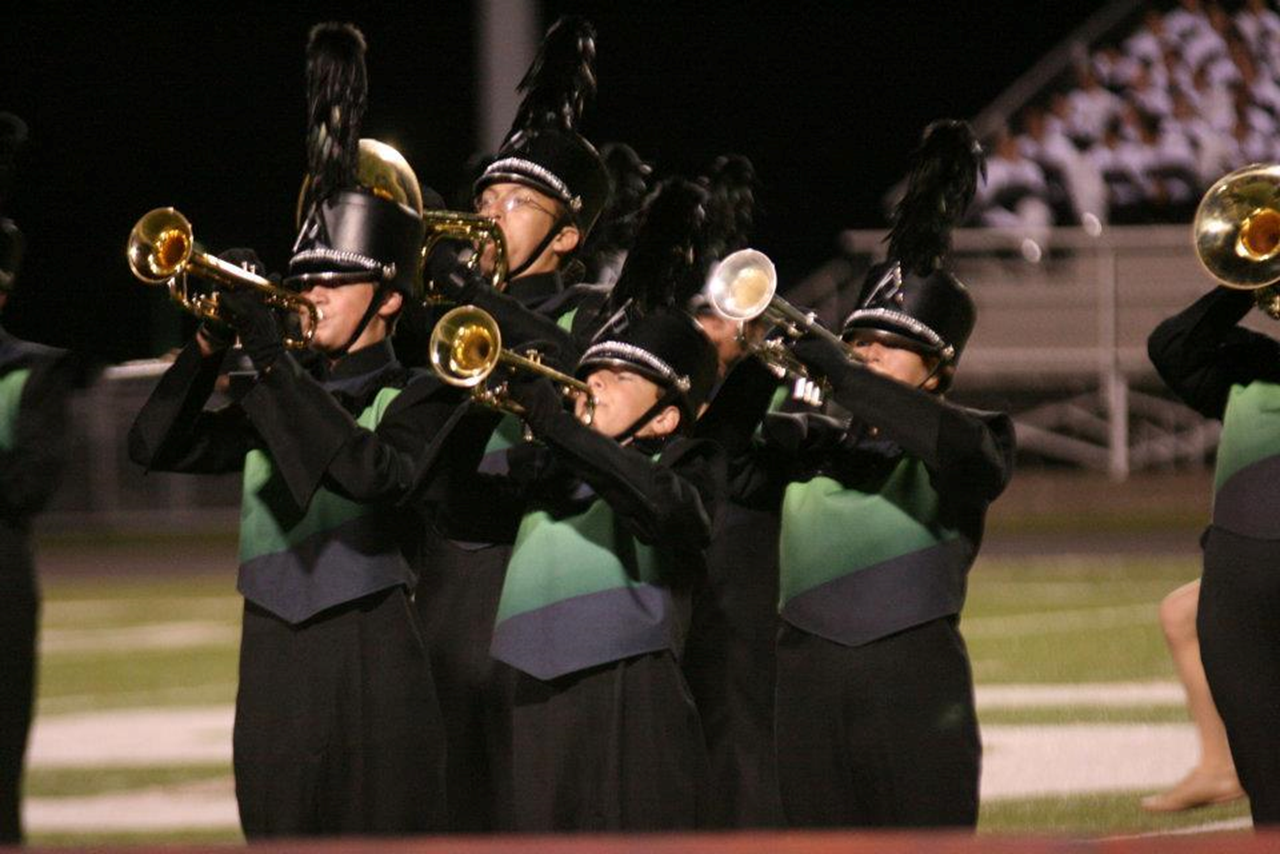 picture of the marching band