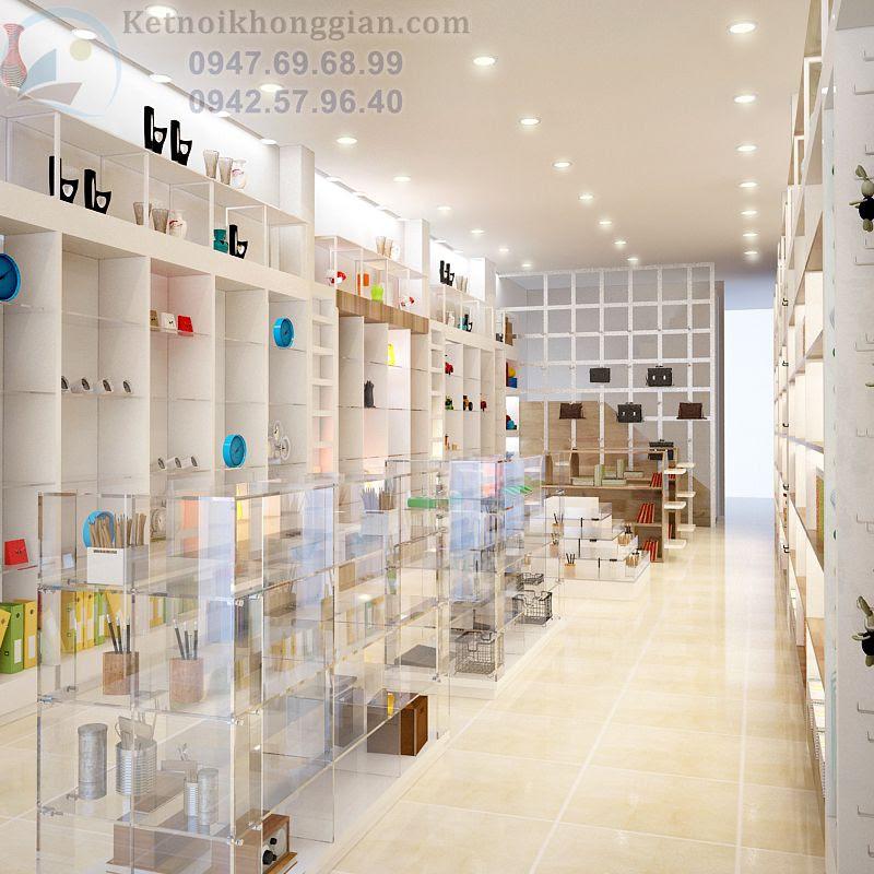thiết kế nhà sách, thiết kế nội thất nhà sách đẹp