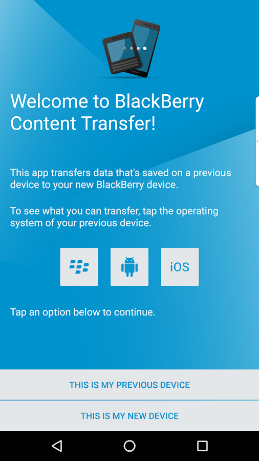 BlackBerry Content Transfer- screenshot