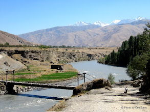 Photo: Day 167 -  On the Road Between  Penzhikent and Anyi (Dee in Distance)