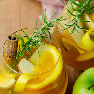 Apple Cider Sangria with Cinnamon Bourbon