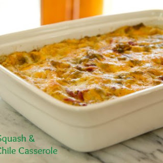 Baked Squash and Green Chile Casserole