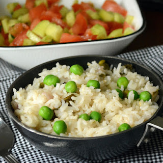 Green Peas Pulao-A Perfect Lunch Box
