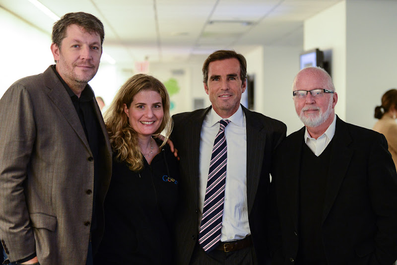 Photo: Some of the biggest contributors to the Veterans Week NYC activities: Google's Andy Berndt and Carrie Laureno, ABC News' Bob Woodruff, and PMC's Gerry Byrne.  (Wounded Warriors: Transitioning to the Civilian Workplace | November 8, 2012)