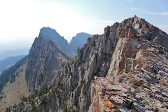 Photo: Looking back at the ridge as we headed down.