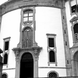 Senhor da Pedra by Gil Reis - Black & White Buildings & Architecture ( places, art, nature, travel, churches )