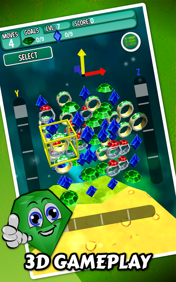 Cubency 3D Gems And Jewels- screenshot