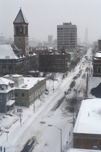 Photo: Boston after snowstorm -- Mass Ave towards Central Square