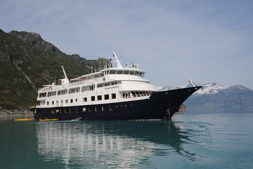 Safari-Endeavour-anchored.jpg - Safari Endeavour sails the shores of Alaska in summer and the Sea of Cortez in winter.