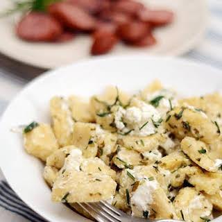 Ricotta Dumplings with Chèvre & Herbs.