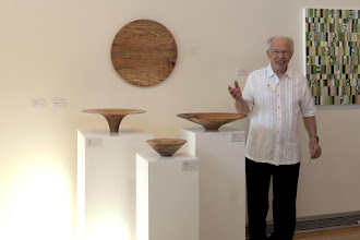 Photo: Phil Brown talks about his pieces, woodturning, and his inspiration.