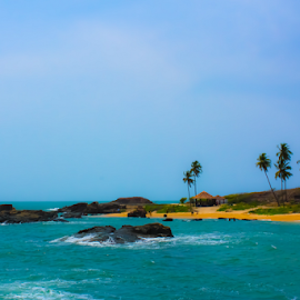 Paradise by Ajith Iddya - Landscapes Beaches ( seascape, waterscape, island, beach, water,  )