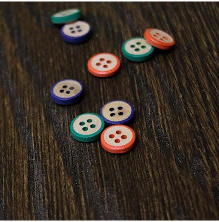 Träknapp 12mm - flera färger