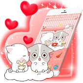 Pink Cute Kitty Lover Theme