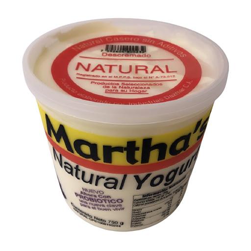 yogurt martha's natural 750gr