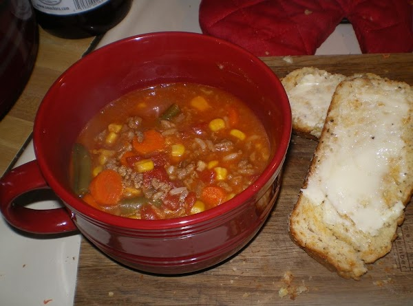 Baby Its Cold Outside Burger Soup Recipe